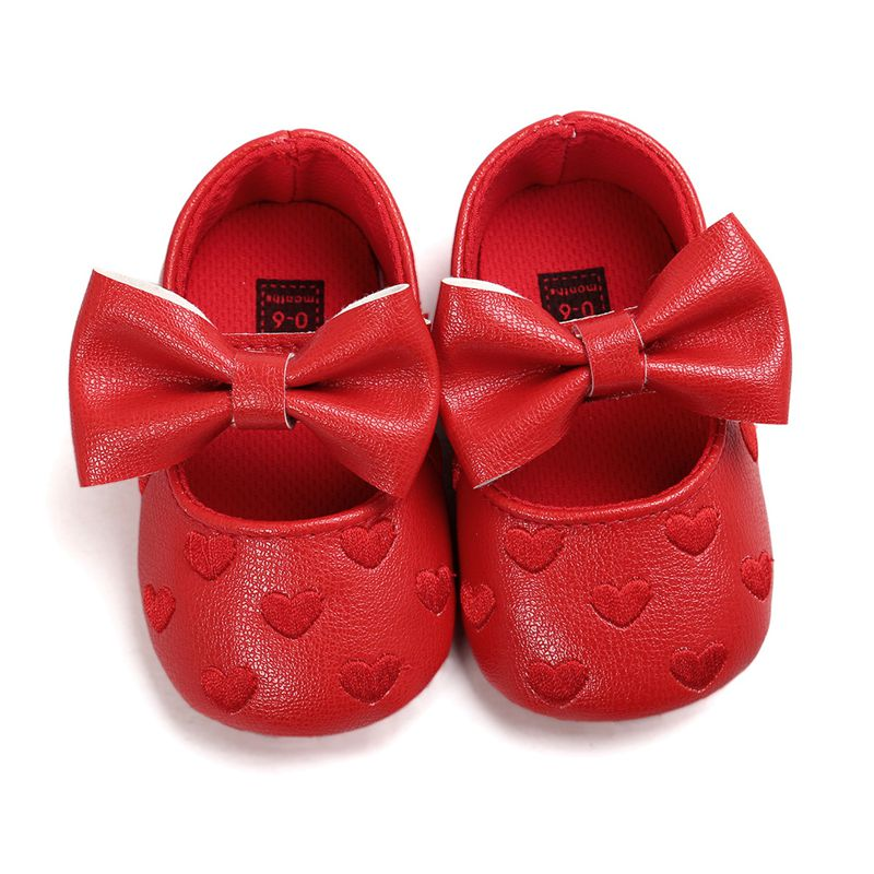 Toddler Kids Girl Princess Bow Dress Shoes Red 6-12m
