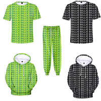 mens tshirts summer fashion Billie Eilish 3d t shirt Letter print harajuku style Funny t-shirt /hoodies/pants Neon Green Outfit