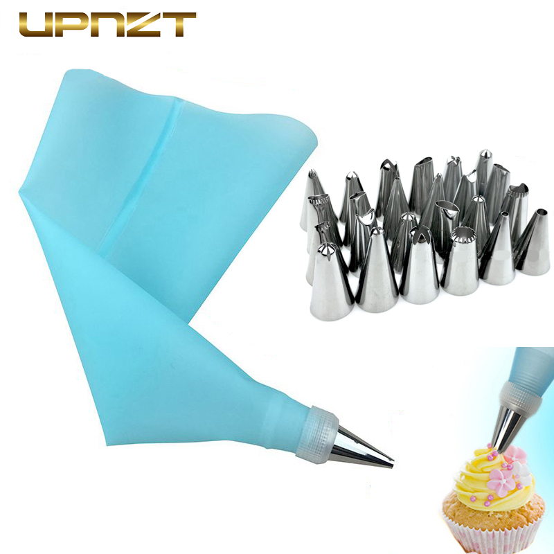 8/26Pcs/Set Stainless Steel Pastry Nozzles For Cream With Pastry Bag Professional Cake Decoration Icing  Piping Baking Tools Set