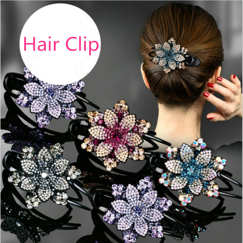 Женские заколки для волос с цветами корейские простые темпераментные