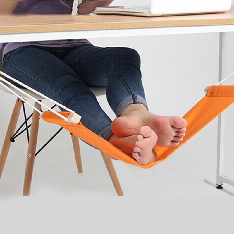 Desk Feet Hammock Foot Canvas Chair Care Tool The Foot Hammock Outdoor Rest Cot Portable Office Foot Hammock Mini Feet Rest