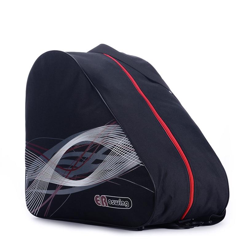 BIG Thick Ice Ski Snow Boots Bag Skate Helmet Portable Carry Shoulder Snow Shoes Bag Non-slip For Snowboard Accessories Black