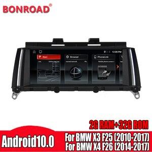 Bonroad Android 10.0 Car radio multimedia player GPS For BMW X3 F25 (2010-2017) BMW X4 F26 (2014-2017) original CIC/NBT System