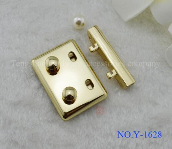 Bag Lock (10 Pieces/lot) Handbags Box Hardware Accessories High-grade Bright Golden Woman Handbags Authority Locks