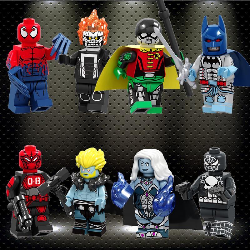 Ed Building Blocks Daredevil Zombie Robin Deathstroke Wonder Woman Harley Quinn Action Figures Children Toys Gifts PG8196