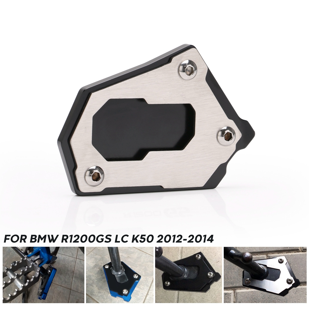 Motorcycle foot rest New Side Stand Pad Extension Plate for BMW R1200GS LC K50 2013-2016 R 1200 GS Adventure LC K51 2013-2016 image