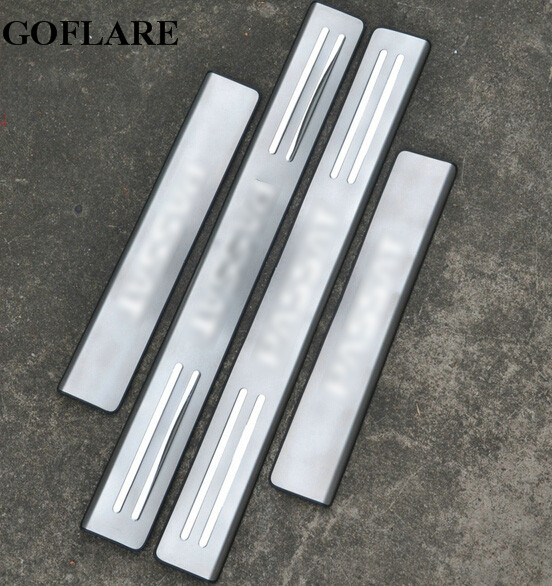 REAMIC Door Sills Stainless Steel Scuff Plate Threshold Strip Car Styling For VW Passat B5 B7 2011 2012 2013 2014 2015