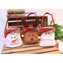 Merry Christmas Decoratiove Candy Gift Bag Christmas Snowman Shape Bag