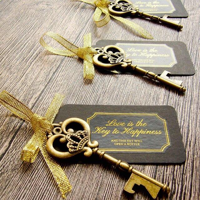 36/50 stücke Schlüssel Flasche Opener mit Tags Braut Hochzeit Wein Ring Keychain Party Favor Braut Dusche Bevorzugungen Hochzeit Geschenke für gäste