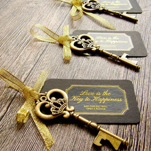 36/50pcs clé décapsuleur avec étiquettes nuptiale mariage vin anneau porte clés fête faveur nuptiale douche faveurs cadeaux de mariage pour les invités