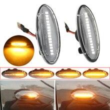 2 stücke Dynamische LED Seite Marker Blinker Für Nissan Qashqai Dualis Juke Micra März Micra CUBE EVALIA Hinweis X Trail BLATT
