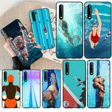 PENGHUWAN Swimming Pool DIY Printing Phone Case cover Shell for Huawei P30 P20 Mate 20 Pro Lite Smart Y9 prime 2019(China)
