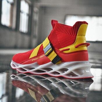 Zapatillas de deporte de verano a la moda para hombre, zapatillas de tendencia, calcetines transpirables para exteriores para hombre, zapatos vulcanizados planos, zapatillas de tenis suaves