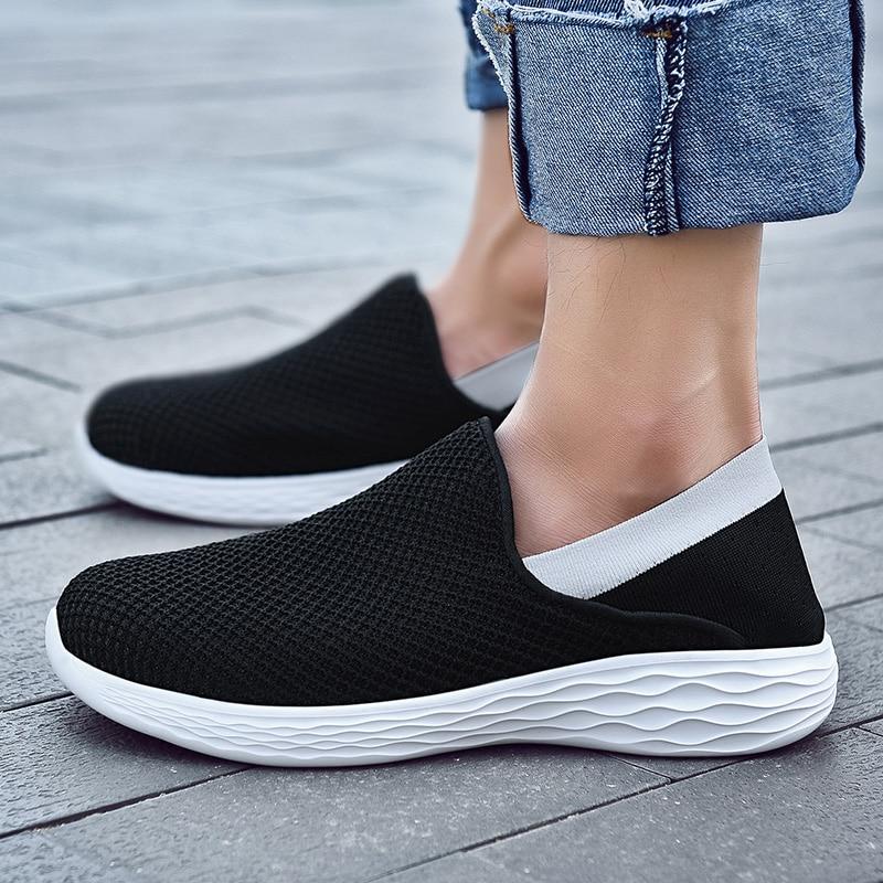 Летняя мужская обувь; Мягкие лоферы; Обувь без застежки на плоской подошве; Коллекция 2021 года; Повседневные Легкие кроссовки; Zapatillas Hombre; Боль...