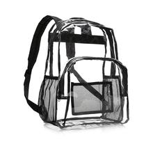 PVC Clear School School Bag Backpack Transparent Fashion Backpacks Travel Waterproof Storage Bag For Outdoor Traveling Rucksack tuban waterproof unisex storage bag for traveling