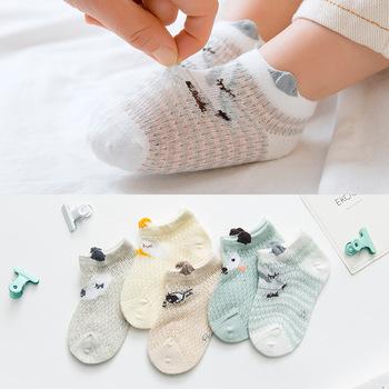 5 par skarpetki dla niemowląt noworodka lato siatki cienkie skarpety dla dzieci dla dziewczynek bawełna niemowlę dorywczo chłopiec dziewczyny maluch skarpety kreskówki skarpety niemowlęce tanie i dobre opinie Pottycluno COTTON Unisex Na co dzień YYC323 Zwierząt Socks for Newborns Baby Socks for Girls