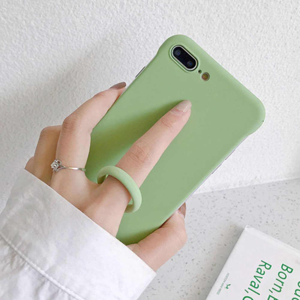 Śliczne pasek-uchwyt do telefonu wisiorek silikonowy paski na telefon Anti-lost pierścień uchwyt smycz dla iPhone Huawei telefon dysk usb klucze
