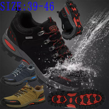 The latest men's low-top waterproof hiking shoes non-slip wear-resistant outdoor sports leisure warm hiking shoes 39-46 yards