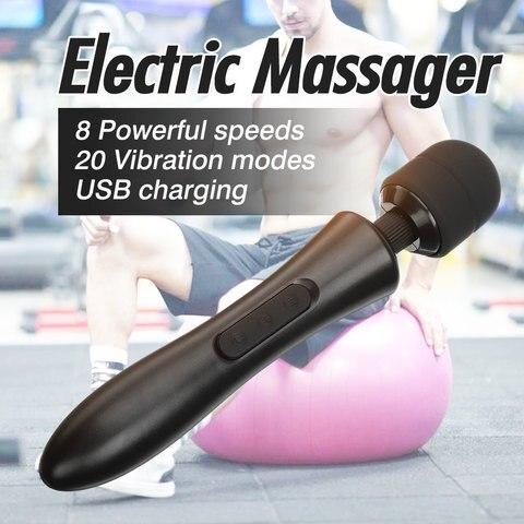 massager recarregavel do corpo da terapia do musculo do pescoco do usb da vibracao eletrica