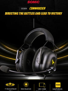 Somic Stereo Earphones Wired Headset 7.1 Laptop Xbox Ps4 Gaming PC with