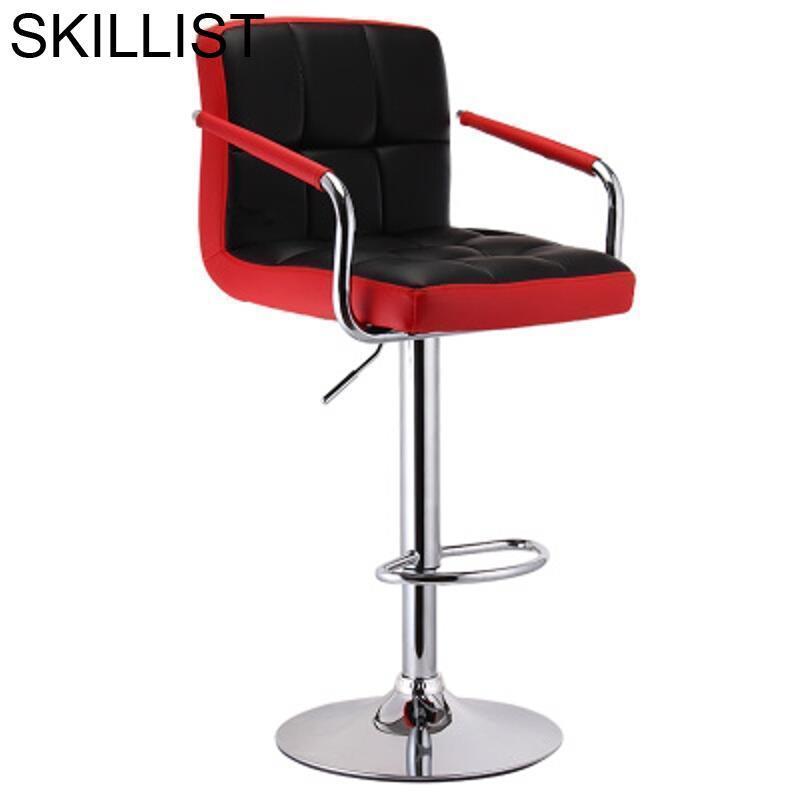 Barstool Taburete Cadir Stoelen Para Barra Banqueta Todos Tipos Barkrukken Table Leather Stool Modern Cadeira Silla Bar Chair