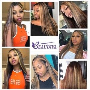 Image 3 - BEAUDIVA Hair Brazilian Straight Hair Bundles P4 27 Color Brazilian Hair Weave Bundles 3/4PCS Remy Human Hair Bundles 95G/PCS