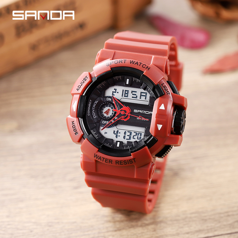 SANDA Military Men's Watches Top Brand Luxury 50m Waterproof Sport Wrist Watch Men Quartz Clock Male Watches Relogio Masculino