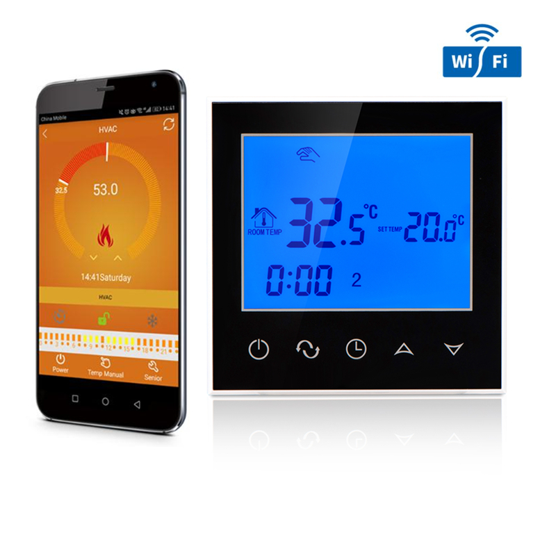 Digital Wifi Floor Heating Thermostat 16A LCD Display WIFI Electric Heating Thermostat Room Programmable Temperature Controller