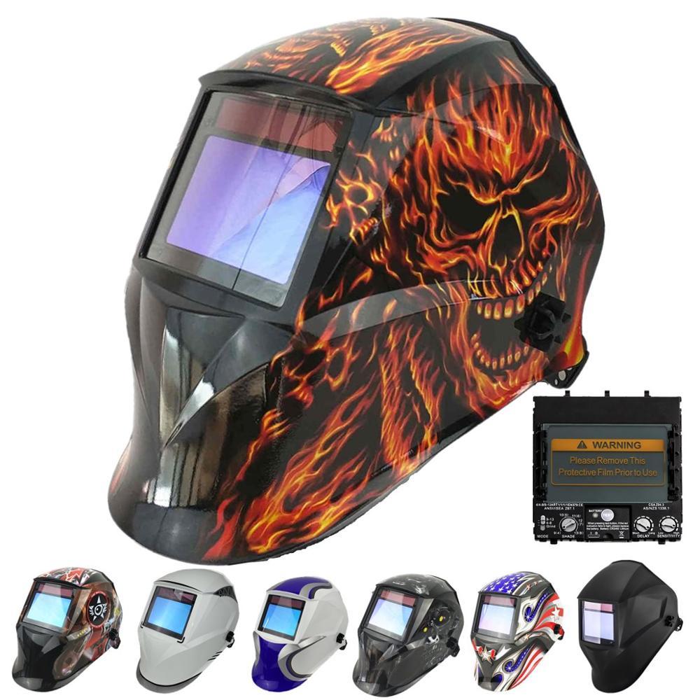 Professional Welding Helmet 100x65mm 1111 4 Sensors Grinding DIN 3/4-13 MMA MIG TIG CE/UL/CSA Solar Auto Darkening Welding Mask