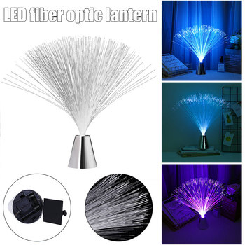Led Multi Colour Changing Fiber Optic Fountain Night Light Lamp Home Decoration Luminous Toys Sleep SDF-SHIP