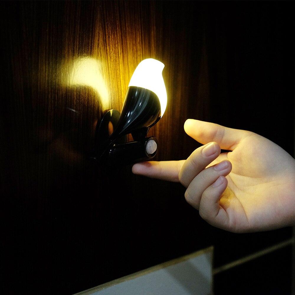 Kingshan Night Light Dusk to Dawn Sensor Bird Shape Rechargeable Night Lamp Motion Sensor Switch Dimmers Bedroom Kitchen