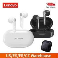 Lenovo-auriculares inalámbricos HT08 TWS, cascos con Control táctil, blanco, LARGA RESISTENCIA
