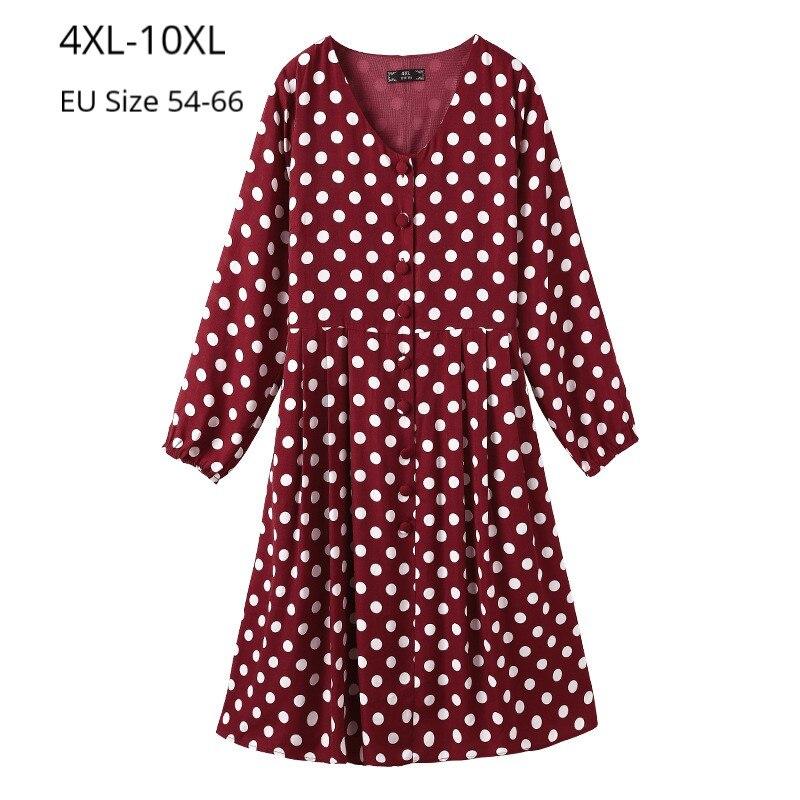 Plus Size 10XL 9XL 8XL Women Long Sleeves Autumn D