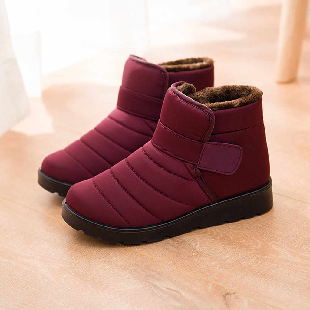 2019 Winter boots Women Snow Boots Warm shoes easy wear zip shoes female Ankle Short Bootie Waterproof Footwear Warm Shoes #822