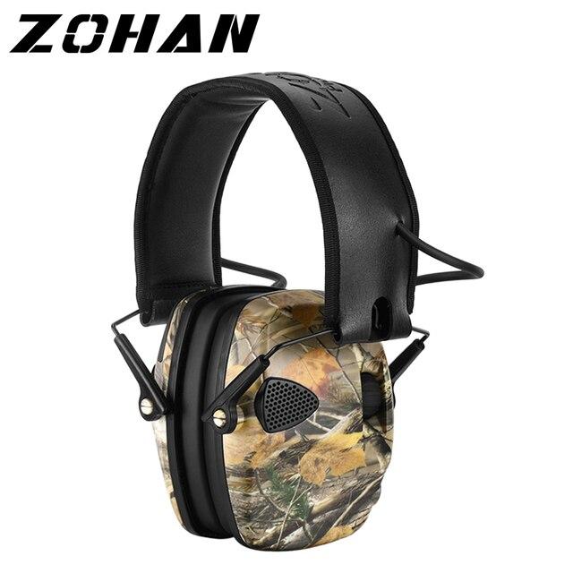 ZOHAN 전자 귀마개 NRR 22DB 전술 사냥 귀 플러그 전자 보호 슈팅 귀 Muffs 전술 귀마개 촬영
