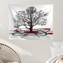 Artystyczny wzór Home Decor Tapestry Wall Hanging wielofunkcyjny koc piknikowy ubrania nowoczesne proste modne ozdoby tanie tanio CN (pochodzenie) 100 poliester Haftowane tree Tkane Rectangle