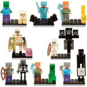 24 style Майнкрафт building block doll Figurines assembled minifigure boys 4-12 years old compatible