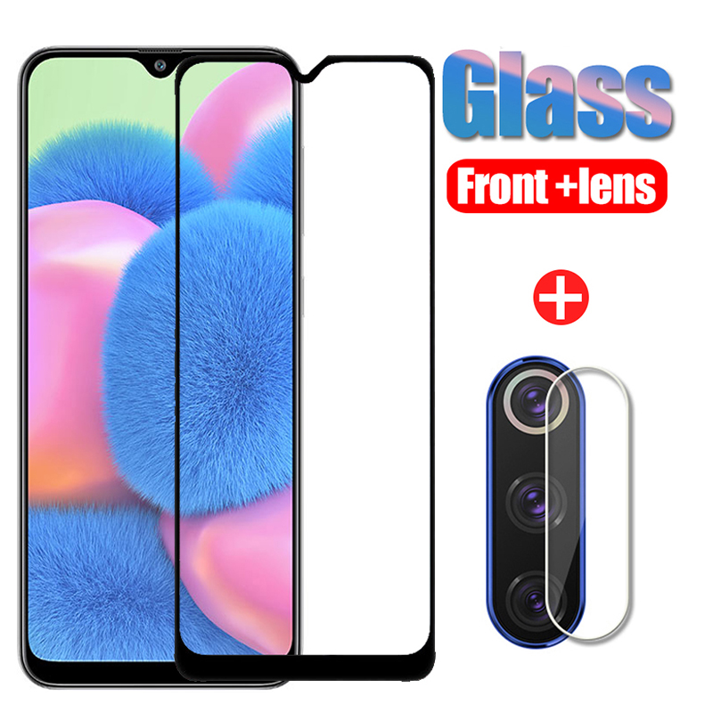 2 In 1 Samsun A30 S Protective Glass For Samsung Galaxy A30S Glass Screen Protector Camera Lens Film For Samsun A 30S 30 S A305F
