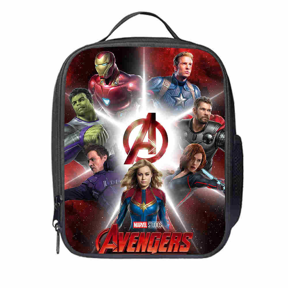 Avengers Infinity War Thanos Cooler Lunch Bag Cartoon Girls Portable Thermal Food Picnic Bags For School Kids Boys Box Tote