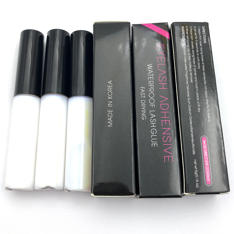 Wholesale 20pcs Eyelash Glue Clear White Dark Black Waterproof EyeLash Glue False Eyelashes 5g Makeup Adhesive Cosmetic Tools