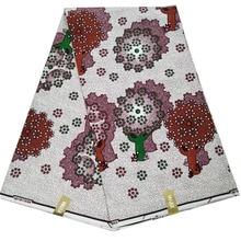 Dutch Ankara wax African Wax Prints Fabric 6 Yards wrapper printed pattern 100% cotton