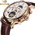 Мужские механические часы Tourbillon  деловые модные спортивные часы из нержавеющей стали с автоматическим самопродуванием