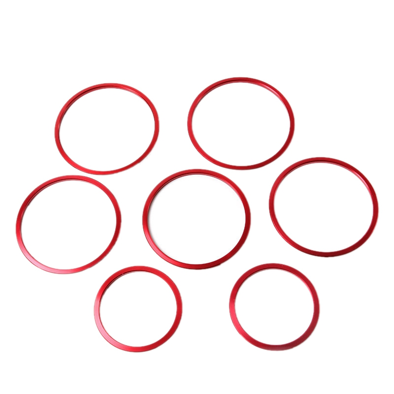 7Pcs Red Exterior A/C Air Vent Outlet Ring Cover Trim for <font><b>Mercedes</b></font> Benz C Class 2015 W205 C180 C200 C250 <font><b>C300</b></font> C400 & GLC <font><b>2016</b></font> image