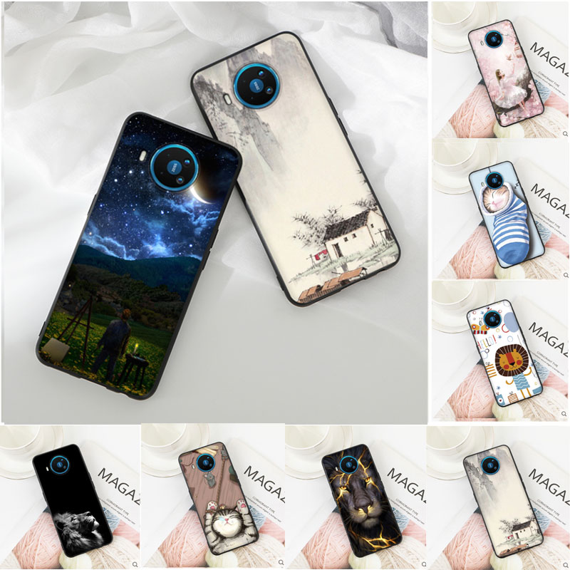 Case For Nokia 8.3 5.3 Case Cute Painted Soft Black TPU Back Cover For Nokia 8.3 5G Case Nokia8.3 Nokia5.3 Coque