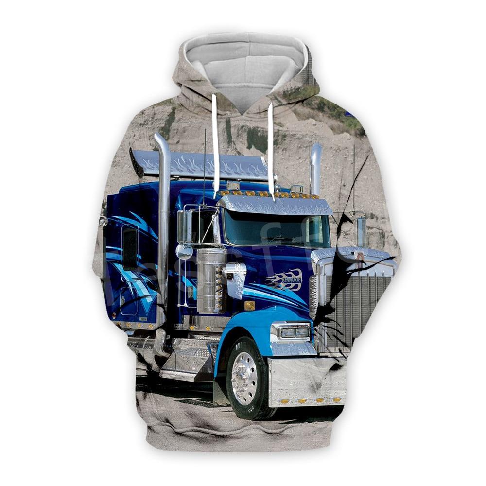 Tessffel Truck Trucker Driver Pullover Tracksuit New Fashion Crewneck MenWomen 3D Printed Sweatshirts/Hoodies/Zipper/jacket S-12