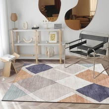 цена на Modern Minimalist Kids Carpet and Rug Abstract Cartoon Geometric Kitchen Living Room Area Rug Bedroom Bedside Non-Slip Floor Mat