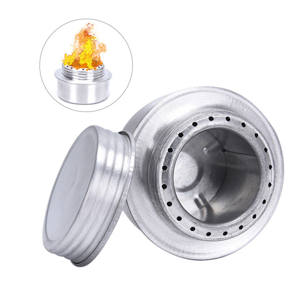 Outdoor Stove Portable Mini Alcohol Aluminum Alloy Stove Outdoor Camping Picnic Hiking Cook Aluminum Alloy Stove Camping Tools