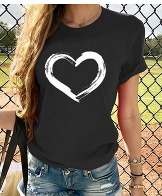 Ligentleman 2020 Casual Harajuku Love Printed Tops Tee Summer Female T shirt Short Sleeve T shirt For Women Clothing