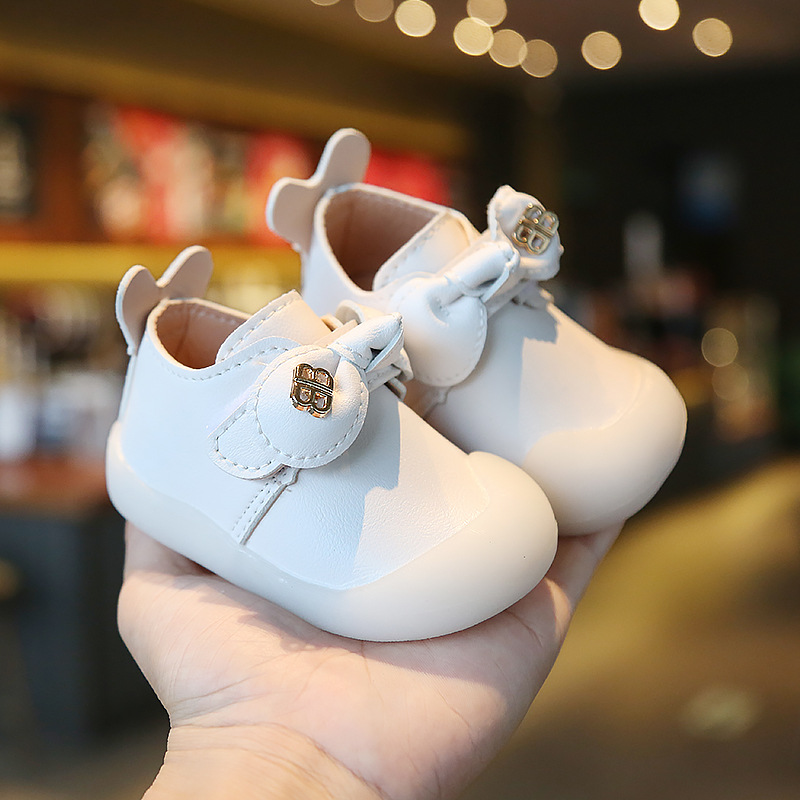 Bow Princess Leather Shoes Baby Little Girl Toddler Shoes 2020 Spring Autumn Children's First Walkers