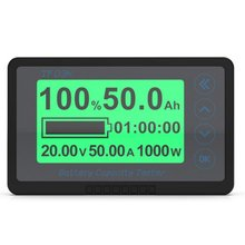 50A-500A TF03K Multifunctional Coulomb Meter Electric Car Touring Car Battery Power Capacity Monitoring Indicator Voltmeter